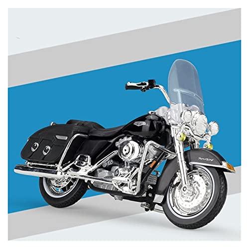 Boutique 1:18 Mini Simulación Modelo Motocicleta De Fundición A Presión para Harley 2001 FLHRC Road King Colección Clásica Regalo Coche De Juguete