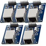 AZDelivery 5 x ENC28J60 Ethernet LAN Modulo de Red con eBook incluido
