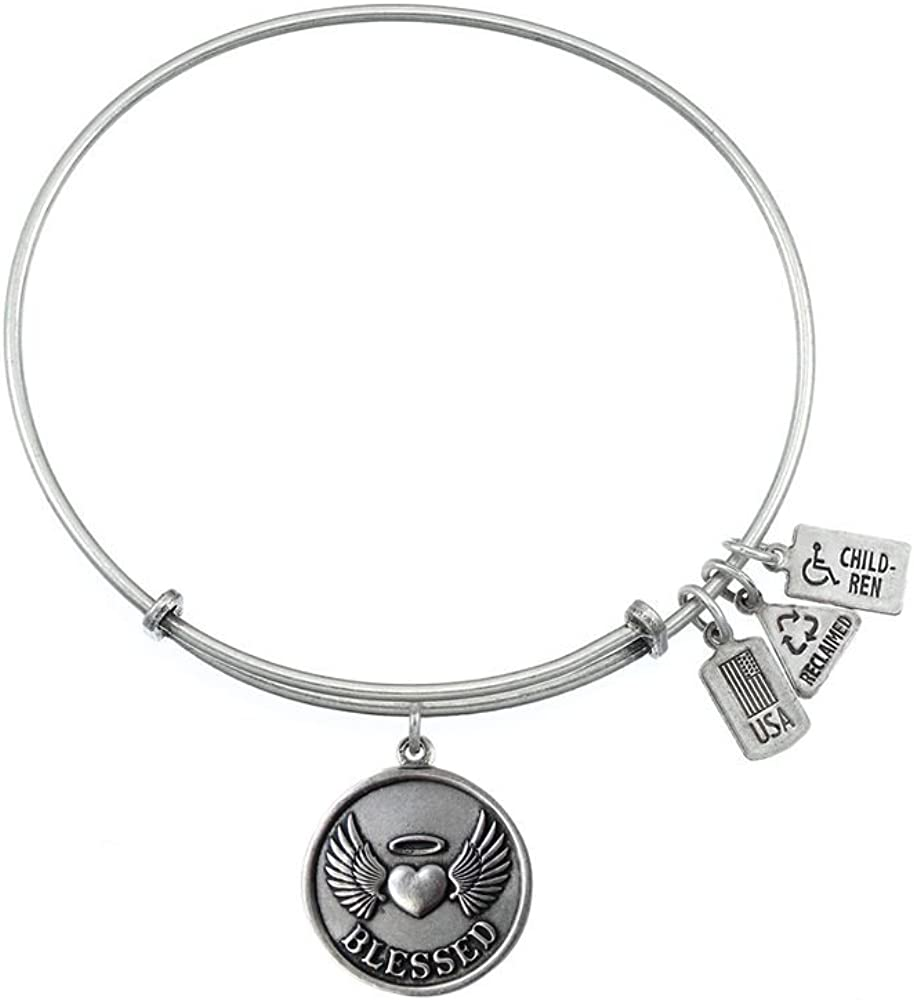 Wind and Fire Expandable Bangle Blessed Brass