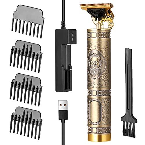 Voupuoda Cortador de pelo con batería, cortador de pelo USB profesional para hombres, máquina de corte de pelo potente eléctrica recargable, herramienta de talla