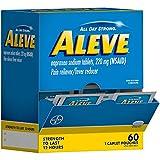 Aleve Pain Relief Caplets, Sachet Dispenser, 60 Count (60 Sachets)