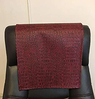 luvfabrics Vinyl Red Black Gator 14x30 Sofa Loveseat Chaise Theater Seat, RV Cover, Chair Caps Headrest Pad, Recliner Head Cover, Furniture Protector