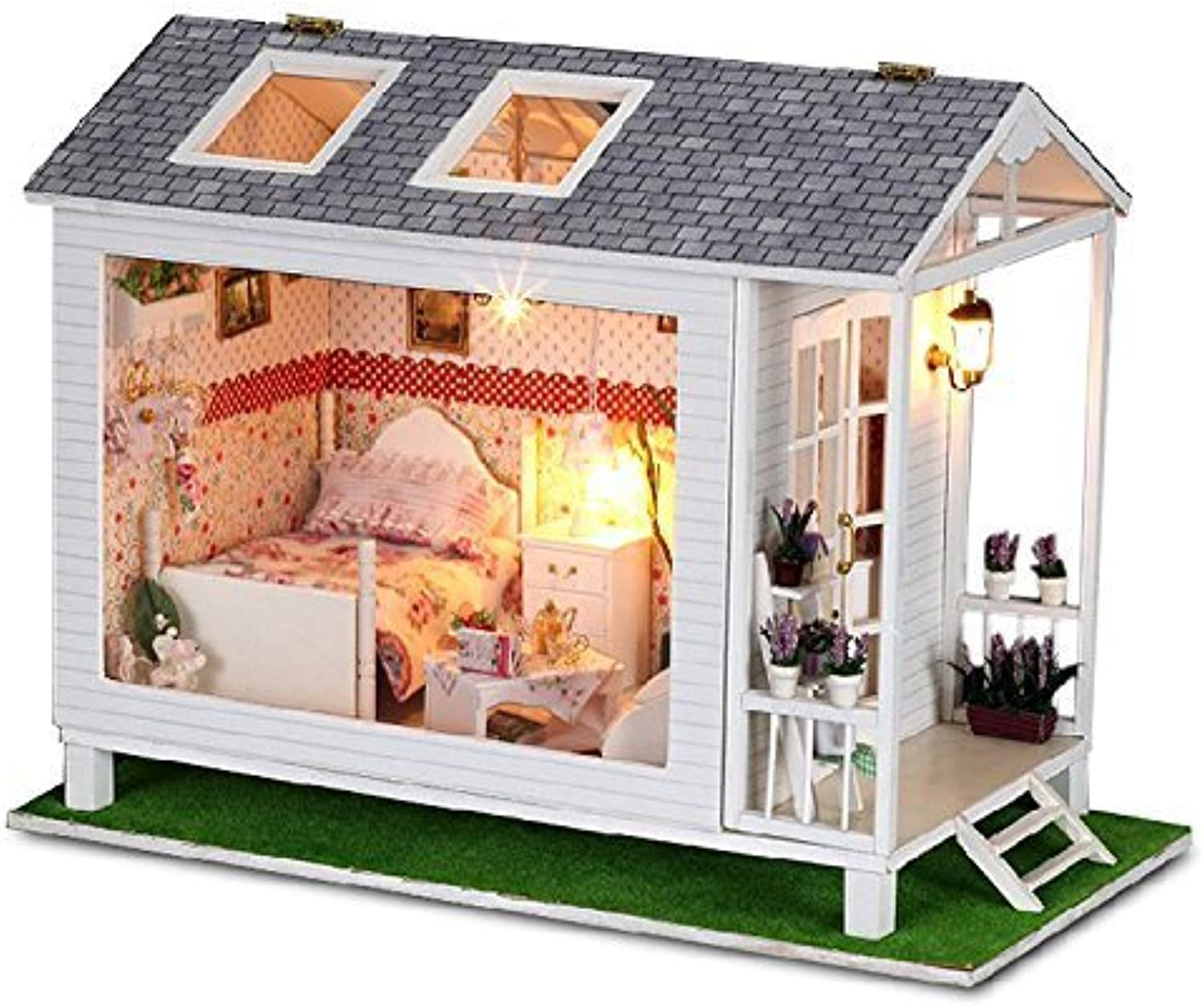 Rylai Wooden Handmade Dollhouse Miniature DIY Kit -Beach House Series Dollhouses & Furniture Accessories