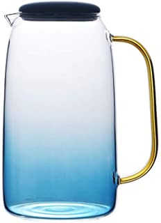 Dušial Gradient Color Marble Cold Water Glass Bottle High Temperature Resistant Glass Jar Jug Kettle