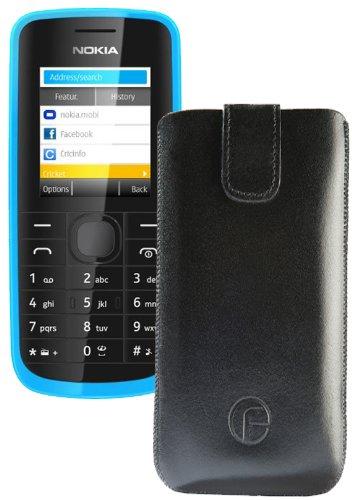 Original Favory Etui Tasche für / Nokia 130 / Leder Etui Handytasche Ledertasche Schutzhülle Hülle Hülle Lasche mit Rückzugfunktion* in schwarz