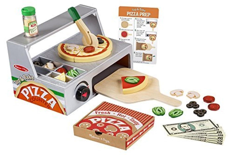 化学者ベンチャー信頼性のあるMelissa & Doug ままごと ピザ カウンター セット 3歳から おもちゃ メリッサ&ダグ ままごとセット 木製 [並行輸入品]