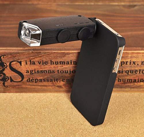 ZTYD vergrootglas voor mobiele telefoon, microscoop van de mobiele telefoon van Apple 4 met LED-vergrootglas 60X-100X