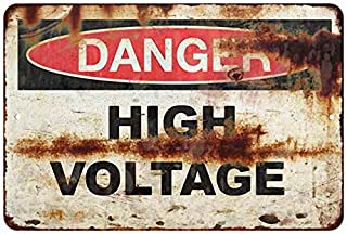 Chico Creek Signs Danger High Voltage Vintage Retro Reproduction Gift 8 x 12 Matte Finish Metal 108120067019