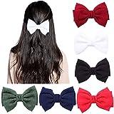 Barrettes à Cheveux Noeud, 6 Pièces Couleur Pince à Cheveux Noeud, Noeud Papillon Pince À Cheveu, pour les Adolescents Adultes Femmes Accessoires de Cheveux (6 Couleurs)