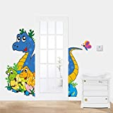 WLWIN schöne dinosaurs wandaufkleber für türschmuck adesivos dehomedecals3dtierecartoonwandkunst,Geschenk,Neues jahr