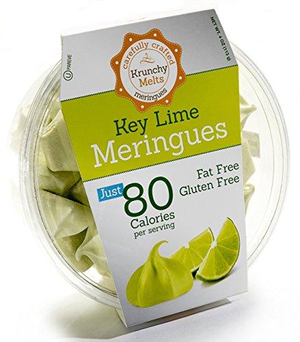 Original Meringue Cookies (Key Lime) • 80 calories per serving, Gluten Free, Fat Free, Nut Free, Low Calorie Snack, Kosher, Parve • by Krunchy Melts