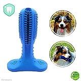 Cleverpets Hundezahnbürste zur Hunde Zahnpflege aus Naturkautschuk - Zahnsteinentferner für