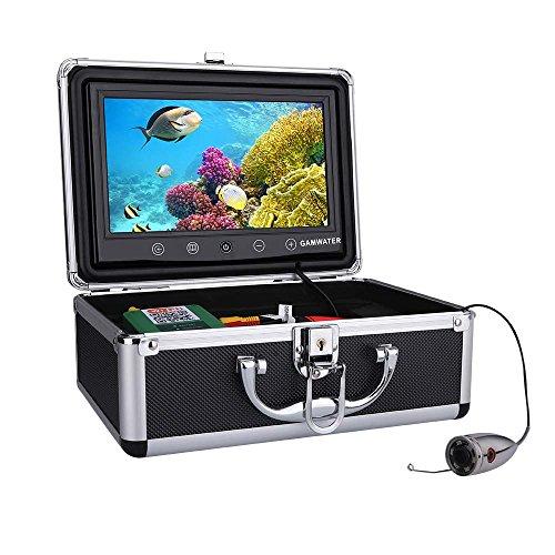 XINTONGSPP Buscador de Peces bajo el Agua, Finder HD cámara bajo el Agua Monitor de Color de 10 Pulgadas 720p 1000TVL Kit de cámara de Pesca bajo el Agua 15M Cable Fish Finder,15m