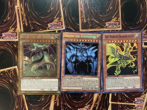 Yugioh All 3 God Cards! Including Rare Cards. 25 Total Card lot