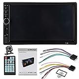 Mifive Doble 2 DIN 7018B Autoradio Car Mp5 Radio Player 7 Inchpress Pantalla Multimedia Radio para Coche con Espejo USB FM Radio para Coche
