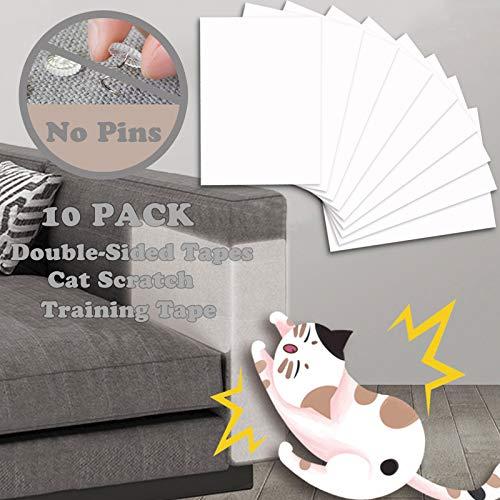 onebarleycorn - Mobelschutz katz, Anti Kratze Katzen Traning Klebeband Kratzschutz Katze Hund Transparent Selbstklebend Kratzfestes für Sofa, Tür, Tisch, Möbel,40cmx 30 cm(10 Stück)