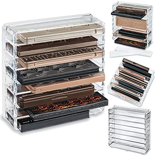 byAlegory Acrylic Medium Eyeshadow Palette Makeup Organizer W/ Removable Dividers Designed To Stand...