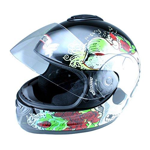 Roadstar Integral-Helm Revolution Lost, Schwarz, Größe 53/54