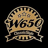 W650 Classic Style カッティング ステッカー ゴールド 金