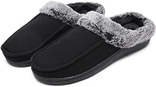 MOFEEDOUKA Women Slippers Cozy Memory Foam Warm Fuzzy Plush Faux Fur Lining Slip On House Shoes Indoor Outdoor