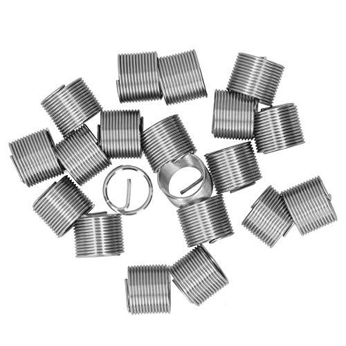 20 piezas M14 x 1,25 hilo de reparación de hilo de alambre de inserción espiral círculo enchufe de rosca funda de hilo conjunto de enchufes de hilo herramienta de inserciones(1.5D)