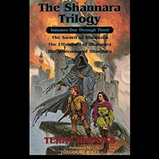 The Shannara Trilogy                   By:                                                                                                                                 Terry Brooks                               Narrated by:                                                                                                                                 Theodore Bikel                      Length: 9 hrs and 21 mins     130 ratings     Overall 3.6