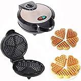 KELITINAus Fabricante de Tostadora de Sándwich, Máquina de Waffle de Waffle Antiadherente, Máquina para Pasteles Domésticos, Control de Termostato Ajustable, Pies Antideslizantes Y Mango de Toque Fre