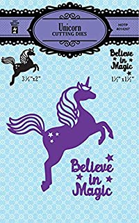 Cutting Die Set by Hot Off The Press | Scrapbooking, Card Making, Gifts and Home Décor – Inspiration at Your Finger Tips (Unicorn)