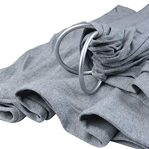 Baby Wrap Carrier Ring Sling - 100% Organic Cotton Breathable Adjustable Ring Sling- Full Support and Comfort for Newborns, Infants & Toddlers - Best Baby Shower Gift for Boys and Girls(Dark Gray)