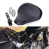 Selle per moto, con Kit staffa di montaggio per molle monoposto moto in pelle per Bobber Chopper Sportster Customed