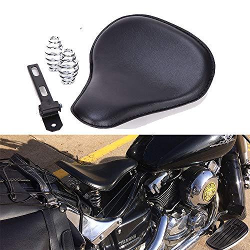 Motorrad Leder Solo Sitz Motorradsitze mit 3'' Feder Halterung Kit für Chopper Bobber Sportster XL883/1200.