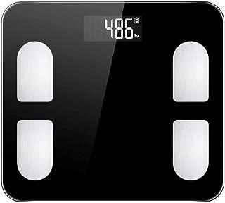 KLT Báscula de pesaje de precisión de baño de precisión científica inteligente electrónica digital peso equilibrio de baño con Bluetooth-App 180Kg/400lb cocina negra