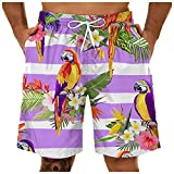 Beach Shorts for Men Mesh Lining Boardshorts Quick Dry Summer Short Swim Trunks Tropical Board Short Pants with Pockets