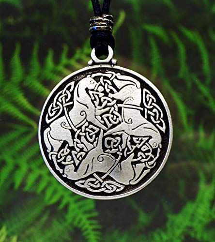 Celtic Horse Pendant | Epona Necklace | Dressage | Fine Pewter