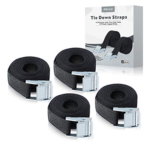 AIEVE Tie Down Straps, 4 Pack 6.5 Ft Adjustable Lashing Straps Ratchet Straps Heavy Duty Ratchet Tie Down Straps Cargo Straps with Cam Buckle Suitable for Carrying Various Cargo or Luggage