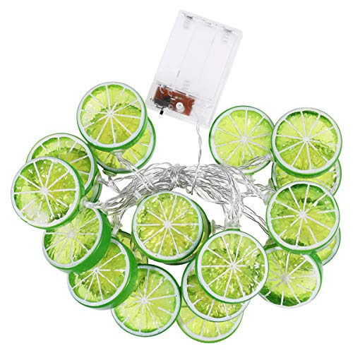 OSALADI Lime String Lights 3m 20 LEDs Battery Powered Lime Lights Decorations for Patio Fence Deck Balcony Camping - Batteries not Included