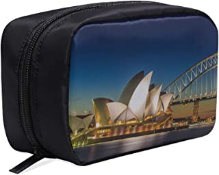 The Beautiful Sydney Opera House Portable Travel Makeup Cosmetic Bags Organizer Multifunction Case Small Toiletry Bags For Women And Men Brushes Case