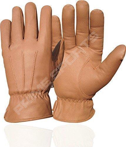 Hommes - Gants de conduite cuir souple véritable fin haute qualité mode 087 - Brun, L