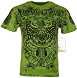 Xtreme Couture by Affliction Men T-Shirt Patron Tatto Biker MMA Gym S-4X $40 (5XL) Green