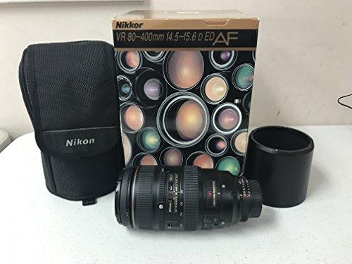 400mm nikon lens Nikon 80-400mm f/4.5-5.6D ED Autofocus VR Zoom Nikkor Lens (OLD MODEL)