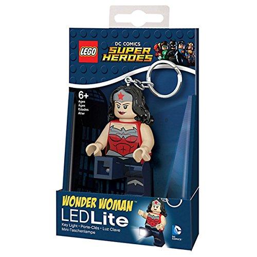 LEGO LGLKE70 - Schlüsselhänger mit Lampe Wonder Woman, Mehrfarbig