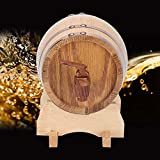 Oak Aging Barrel 1L Barrel, Oak Barrel, Whiskey Barrel for Restaurant Household