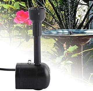 Cafopgrill Fuente de la Bomba Solar de suspensión con iluminación LED de Cambio de Color y Paquete de baterías para baño de Aves, Acuario, Estanque pequeño ...