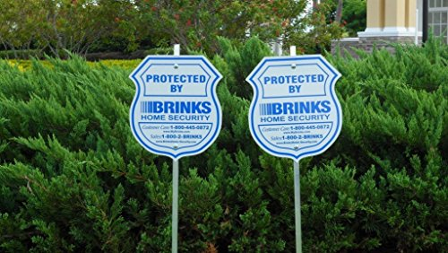 Home Outdoor PVC Reflective Yard Security Sign Decal Stickers
