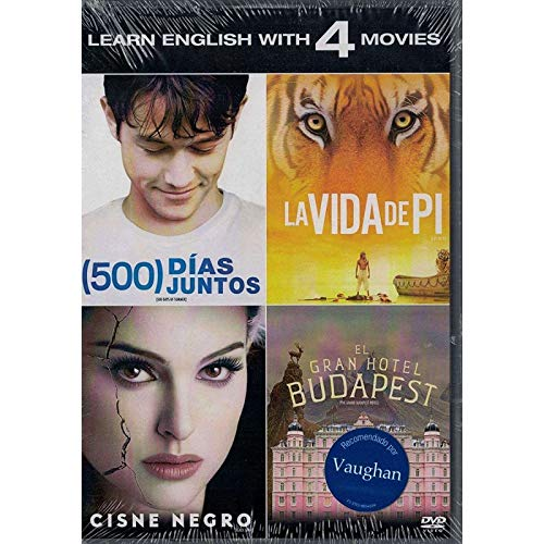 Pack 4 movies -(500) Days of Summer - Life of Pi - Black Swan - The Grand Budapest Hotel - Pack 4 movies - 500 días juntos - La vida de Pi- Cisne negro - El gran hotel Budapest