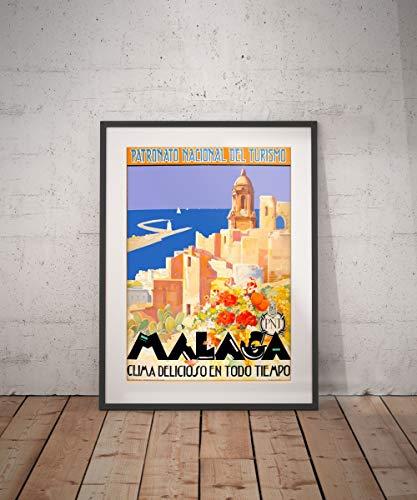 Rac76yd Málaga Málaga Póster de Viaje Málaga Málaga Impresión Málaga Póster Viajes Decoración de Pared