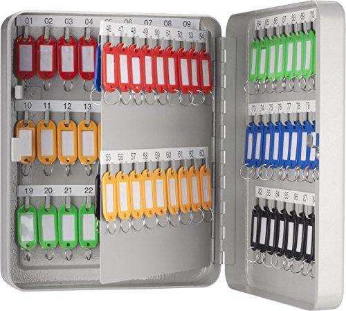 BARSKA CB13234 Key Lock 90 Position Key Cabinet Lock Box Grey