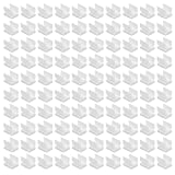 D-worthy 100pcs White Color Pen Pencil and Marker Holder Clip Adhesive for Sticking on Clipboards,White Board Desk Car Bulletin Board