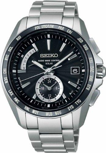 [セイコーウォッチ] 腕時計 ブライツ ソーラー電波修正 チタンダイヤシールド サファイアガラス スーパークリア コーティング マスコミモデル SAGA159 シルバー