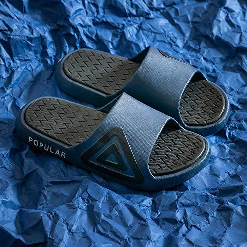 Chanclas clásicas,Sandalias Antideslizantes de baño de Verano, con una Playa en el Desgaste-Azul Marino_40-41,Sandalia Casual de Tiras